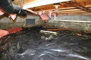Crawl Space Repair Before in Syracuse
