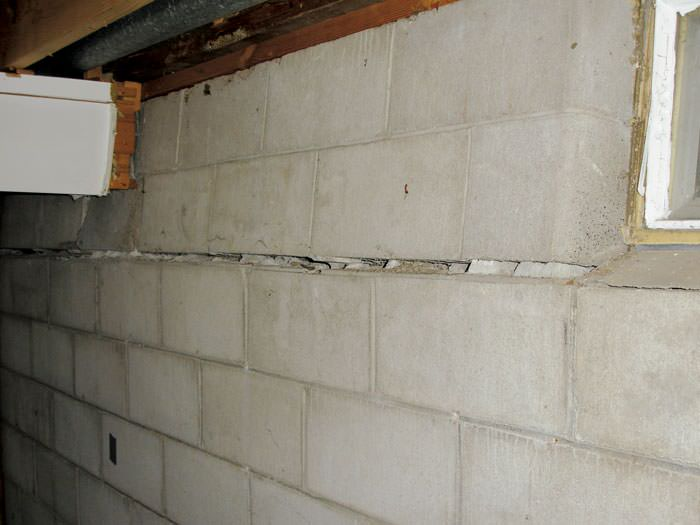 Awesome Basement Wall Caving In Part - 12: ... Severely Buckling Foundation Walls In A Home In Oneida In Need Of  Repairs.