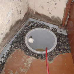 Installing a sump in a sump pump liner in a Rome home