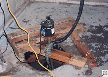 A Manlius sump pump system that failed and lead to a basement flood.