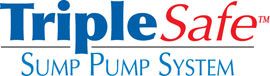 Sump pump system logo for our TripleSafe™, available in areas like Chittenango