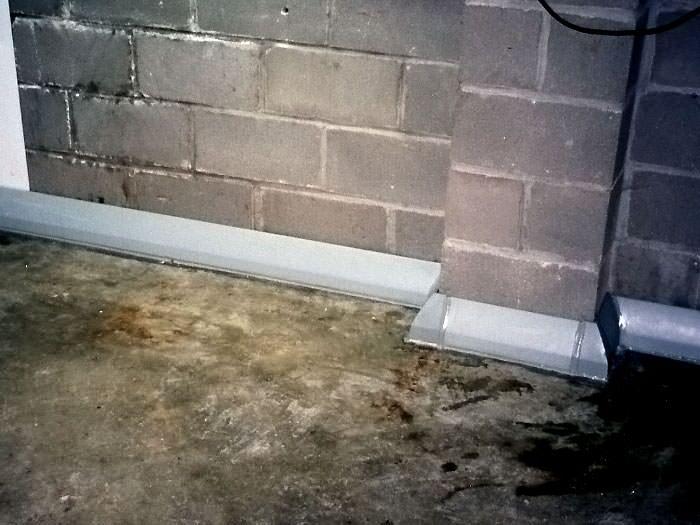 Baseboard Basement Drain Pipe System In Utica Syracuse