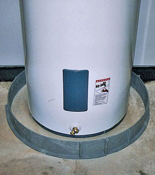 An old water heater in Whitesboro, NY with flood protection installed