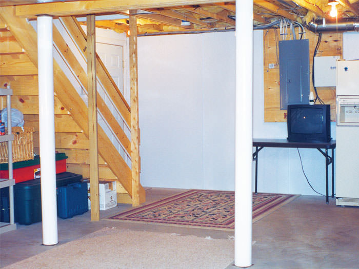 basement wall panels.  plastic basement wall panels installed in Rome New York Basement Wall Covering Syracuse Utica Wet